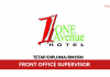 One Avenue Hotel ~ Front Office Supervisor