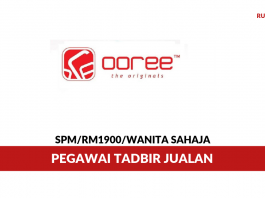 Ooree International ~ Pegawai Tadbir Jualan
