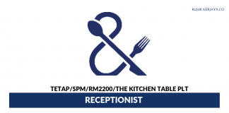 The Kitchen Table PLT ~ Receptionist