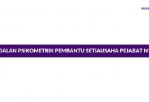 Contoh Soalan Psikometrik Pembantu Setiausaha Pejabat N19 JPA/SPA