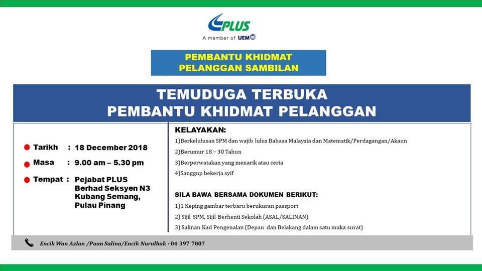 Iklan Jawatan Kosong Plus Malaysia Kerja Kosong Kerajaan Swasta