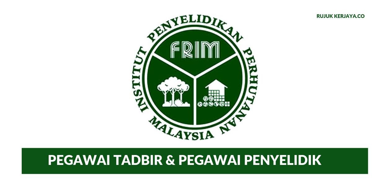 Jawatan Kosong Terkini Institut Penyelidikan Perhutanan Malaysia Kerja Kosong Kerajaan Swasta