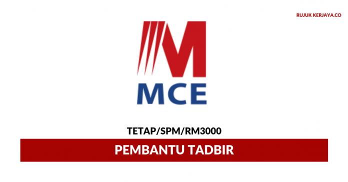 MCE Marketing ~ Pembantu Tadbir