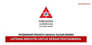 Menon Americas ~ Latihan Industri Untuk Kerani Pentadbiran
