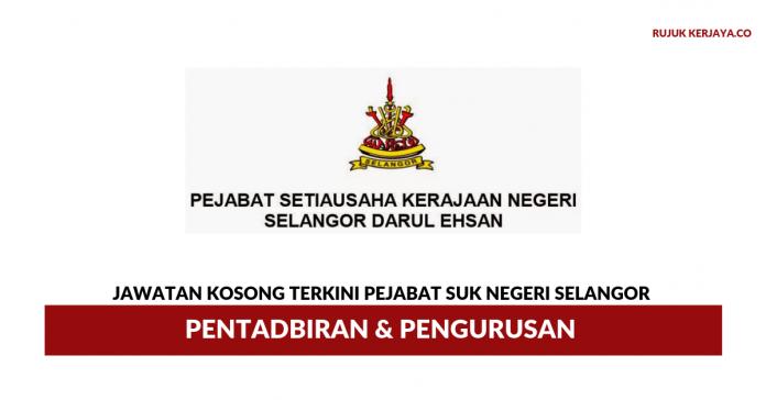 Pejabat SUK Negeri Selangor ~ Pentadbiran & Pengurusan