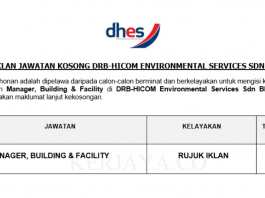 DRB-HICOM Environmental Services ~ Manager, Building & Facility
