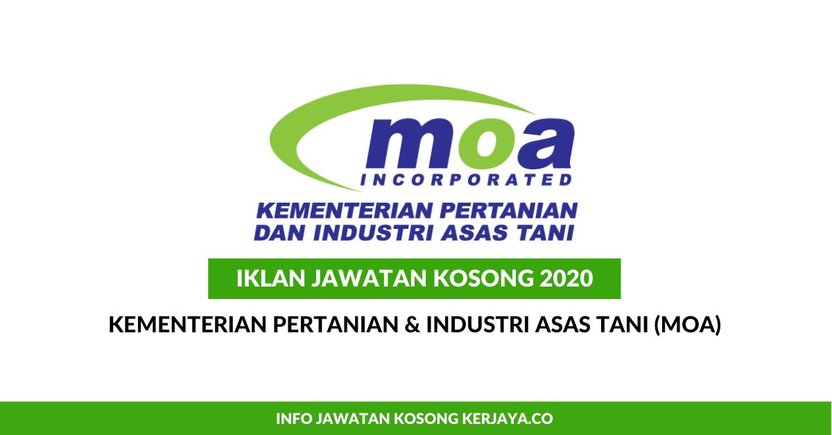 Jawatan Kosong Terkini Kementerian Pertanian Dan Industri Asas Tani Moa Lpnm Kerja Kosong Kerajaan Swasta