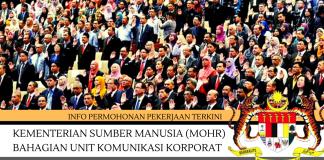 Kementerian Sumber Manusia (MOHR) ~ Bahagian Unit Komunikasi Korporat