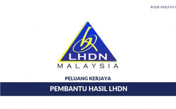 Jawatan Kosong Pembantu Hasil LHDN