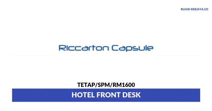 Riccarton Capsule Hotel ~ Hotel Front Desk