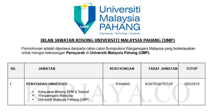 Universiti Malaysia Pahang (UMP) ~ Pensyarah