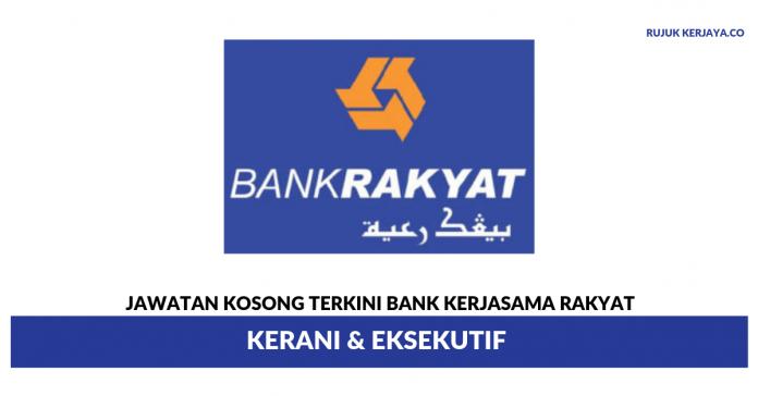 Bank Kerjasama Rakyat Malaysia ~ Kerani & Eksekutif