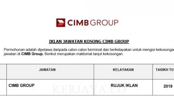 CIMB Group ~ Pelbagai Kekosongan Jawatan