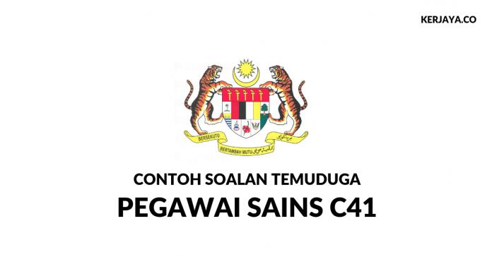 Contoh Soalan Temuduga Pegawai Sains C41 SPA