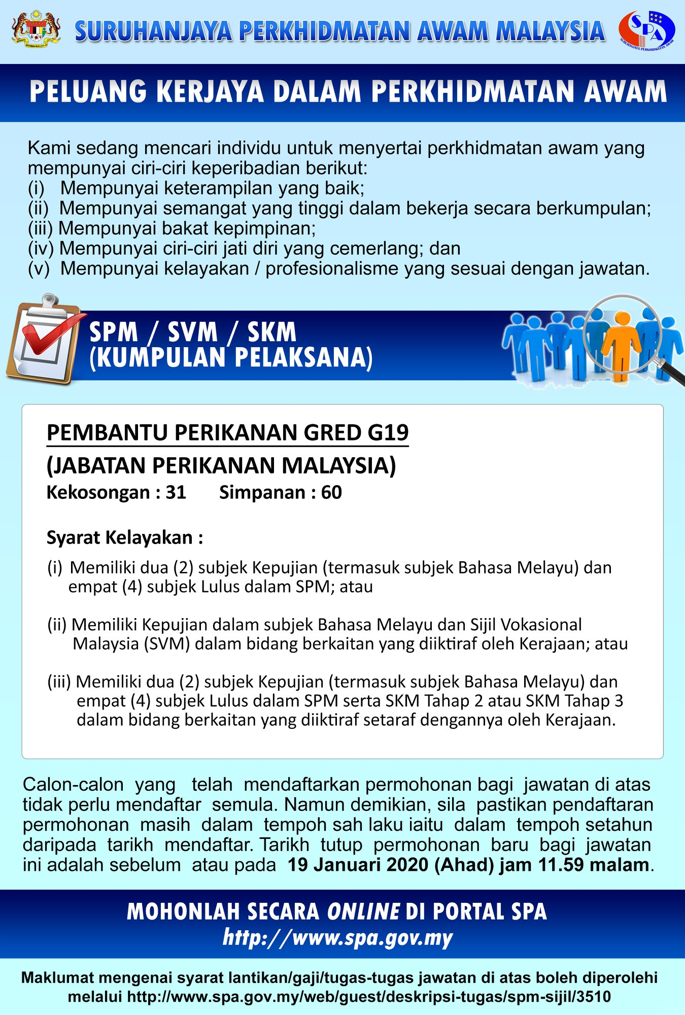 Jawatan Kosong Jabatan Perikanan Malaysia (1)
