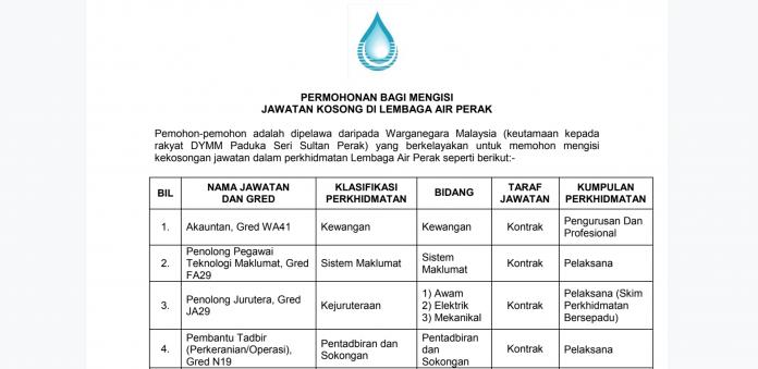 Lembaga Air Perak (LAP) 2019