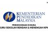 Permohonan Guru Sekolah Rendah & Menengah KPM Lepasan SPM di Buka