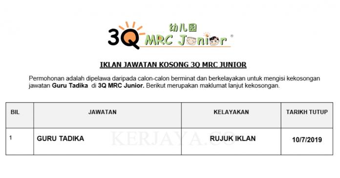 3Q MRC Junior ~ Guru Tadika