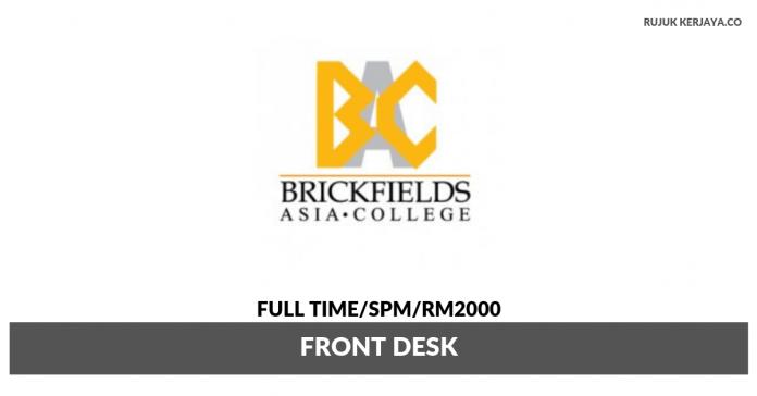 Brickfields Asia College ~ Front Desk