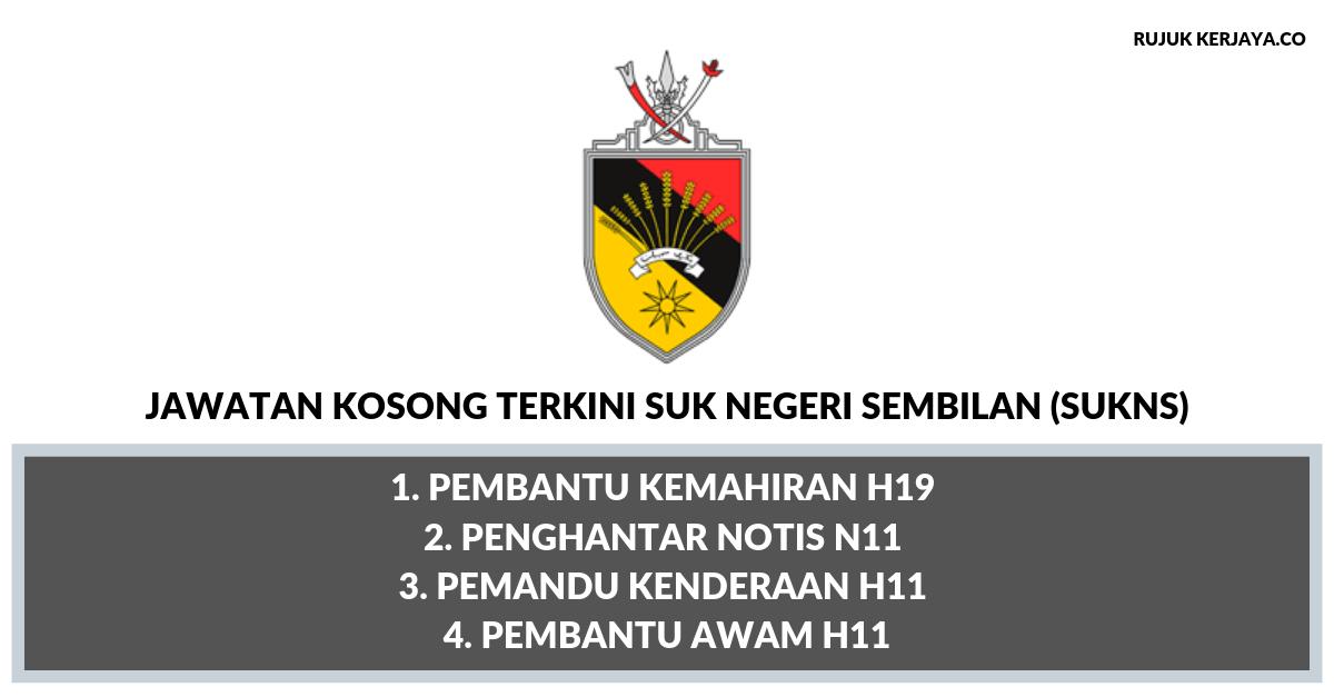 Jawatan Kosong Terkini Pejabat Setiausaha Kerajaan Negeri Sembilan Sukns Pentadbiran Pengurusan Kerja Kosong Kerajaan Swasta