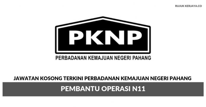 Perbadanan Kemajuan Negeri Pahang (PKNP) ~ Pembantu Operasi N11
