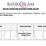 Permohonan Jawatan Kosong Terkini Bank Islam