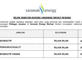 Sarawak Energy ~ Pelbagai Kekosongan Jawatan