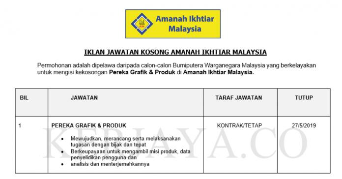 Amanah Ikhtiar Malaysia ~ Pereka Grafik & Produk