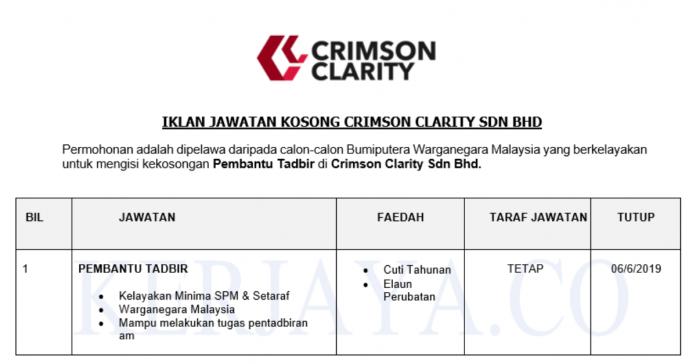 Crimson Clarity ~ Pembantu Tadbir