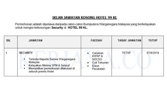 HOTEL 99 KL ~ Security