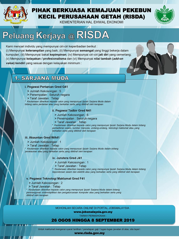 Iklan Jawatan Kosong RISDA