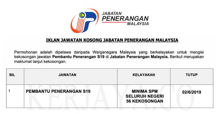 Jawatan Kosong Jabatan Penerangan Malaysia (1)