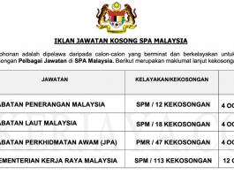 Jawatan Kosong Terkini Suruhanjaya Perkhidmatan Awam Malaysia (SPA Malaysia) (2)