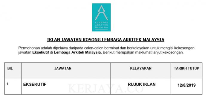 Lembaga Arkitek Malaysia ~ Eksekutif