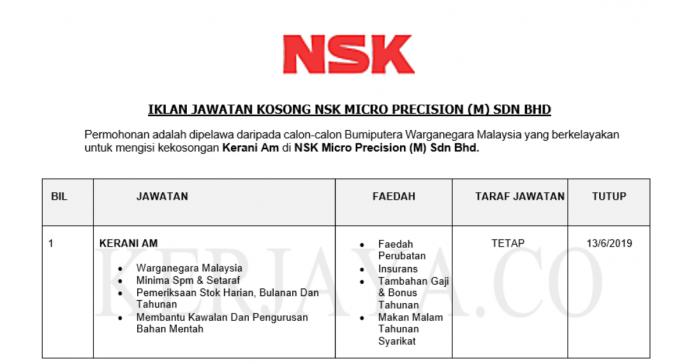 NSK Micro Precision ~ Kerani Am