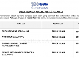 Nestlé Malaysia ~ Pelbagai Jawatan