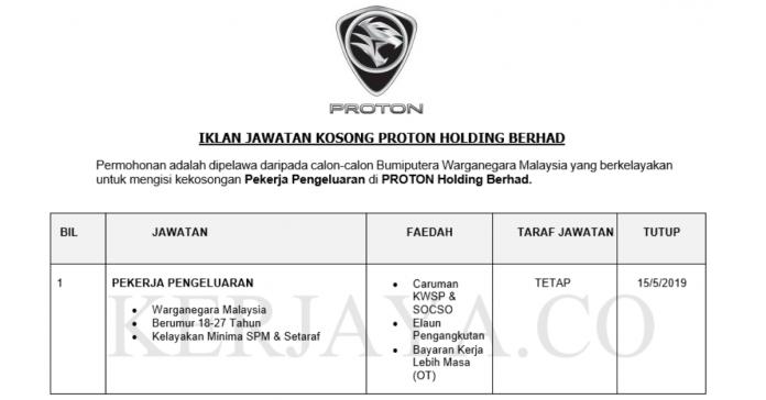 PROTON Holding Berhad