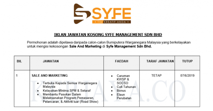 Syfe Management ~ Sale And Marketing