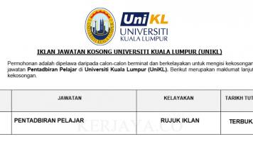 Universiti Kuala Lumpur (UniKL) ~ Pentadbiran Pelajar