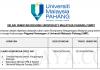 Universiti Malaysia Pahang (UMP) ~ Pegawai Kewangan