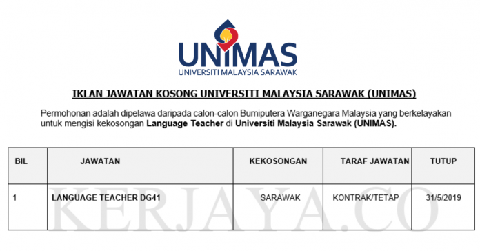 Universiti Malaysia Sarawak (UNIMAS) ~ Guru Bahasa