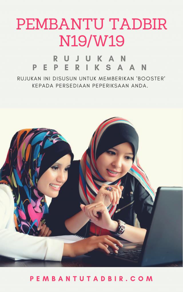 Rujukan Contoh Soalan Pembantu Tadbir JPA N19