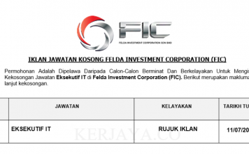 Felda Investment Corporation (FIC) ~ Eksekutif IT