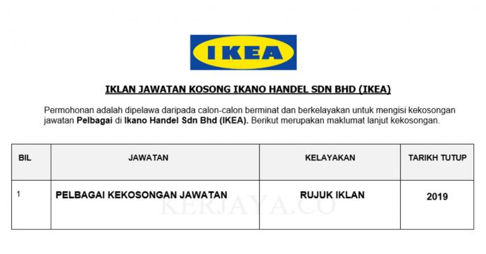 IKEA ~ Pelbagai Kekosongan Jawatan