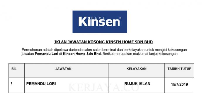 Kinsen Home ~ Pemandu Lori