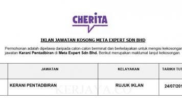 Meta Expert ~ Kerani Pentadbiran