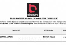 Orion Global Enterprise ~ Kerani Akaun