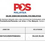 Pos Malaysia ~ Posmen/Posnita/Kurier & Pemandu Lori & Van