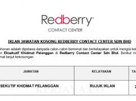 Redberry Contact Center ~ Eksekutif Khidmat Pelanggan