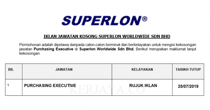Superlon Worldwide ~ Purchasing Executive